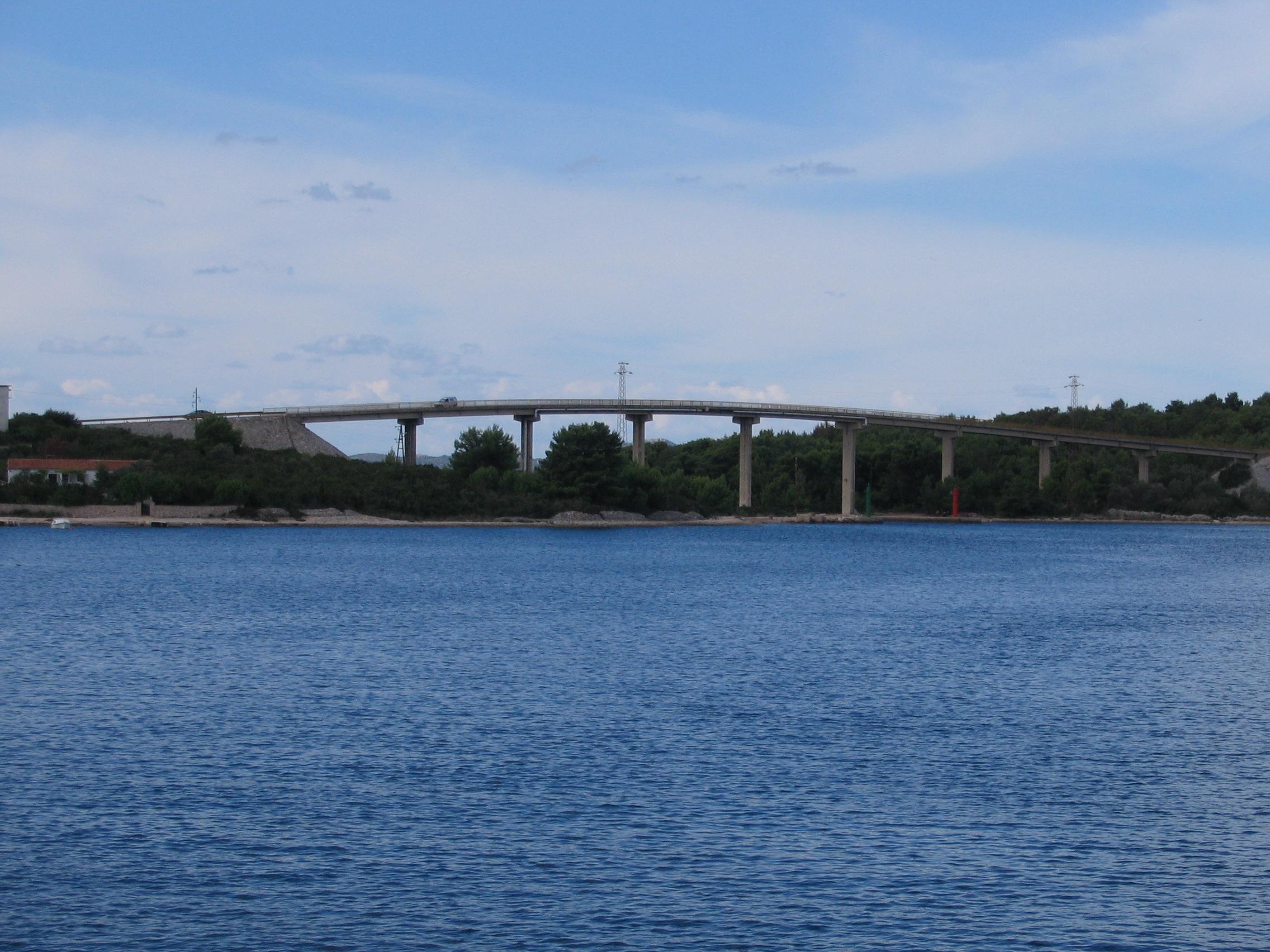 Il ponte tra Ugljan e Pasman
