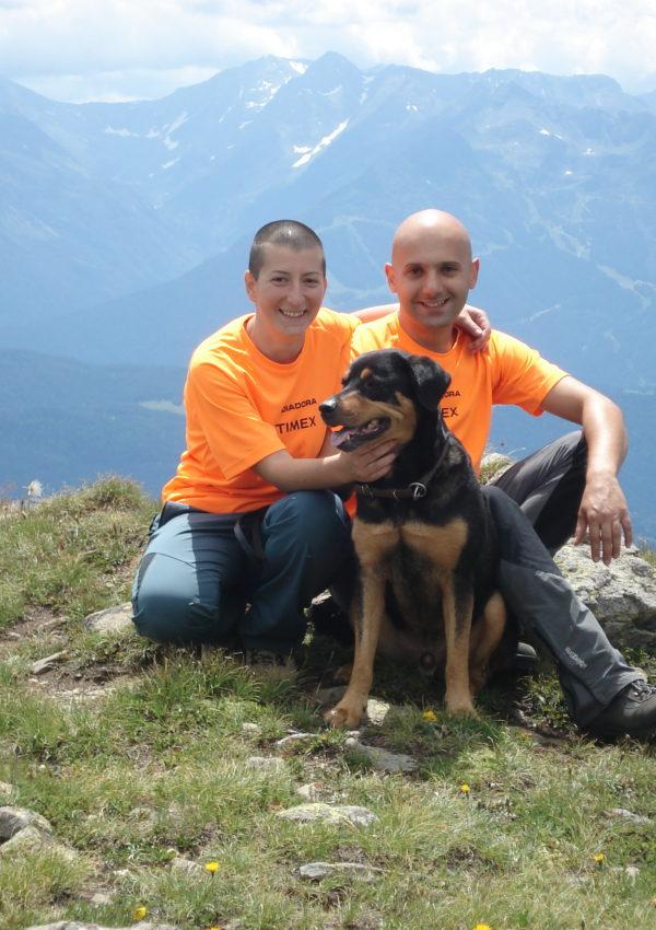 Con Cinzia e Silvio sul Trenino Rosso del Bernina