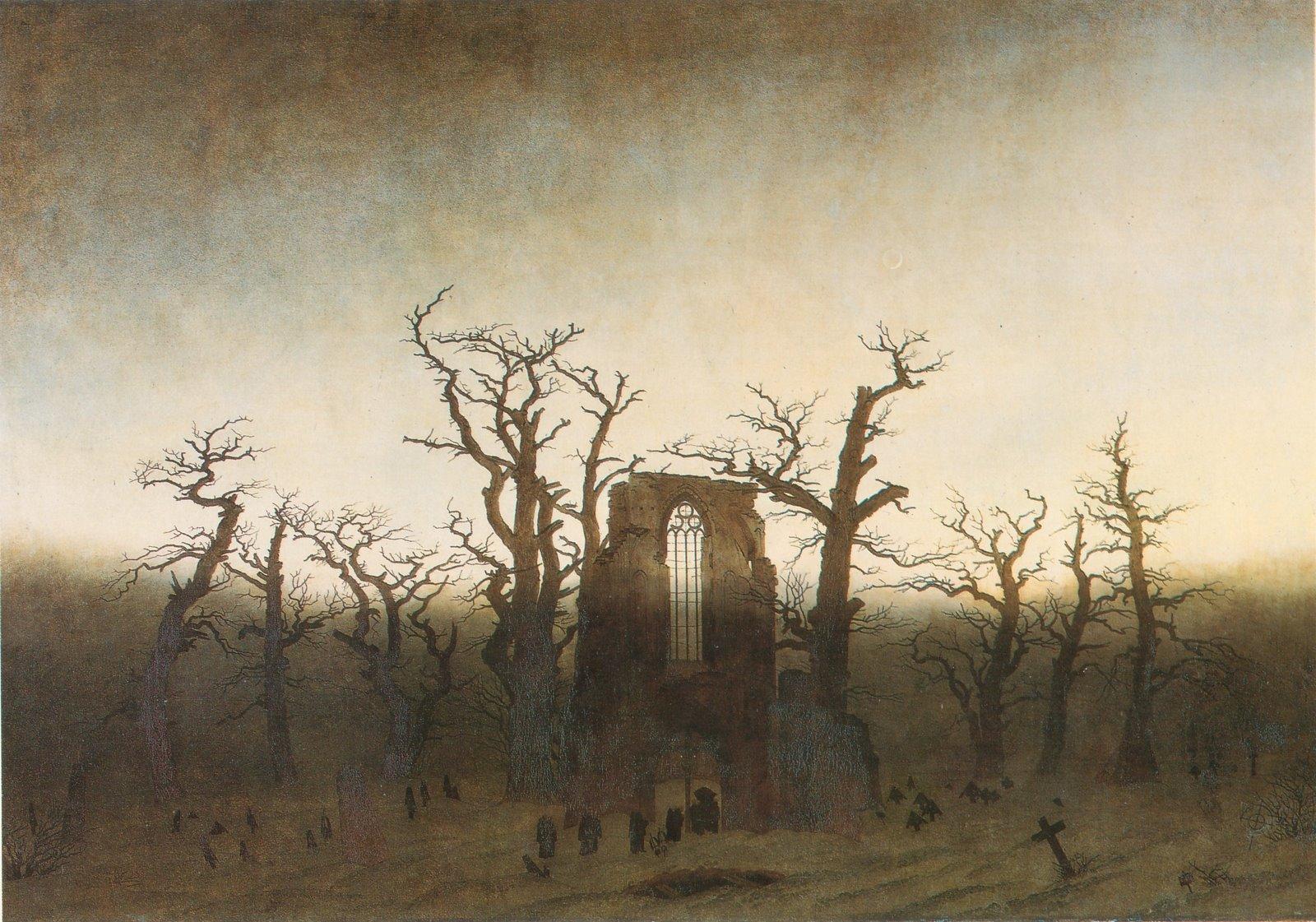 Abbazia nel querceto Caspar David Friedrich