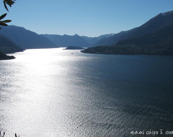 veduta del lago dal castello di vezio