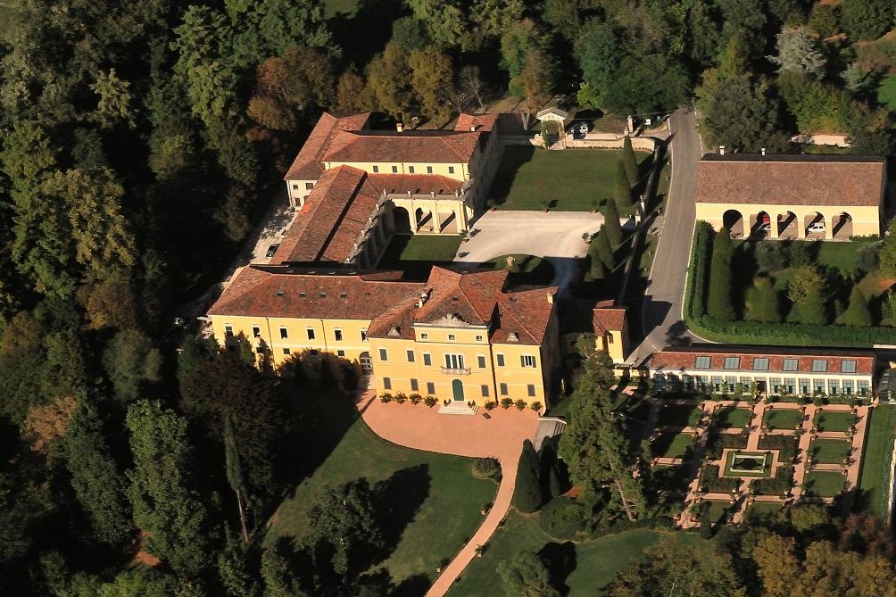 Villa Fogazzaro dall'alto
