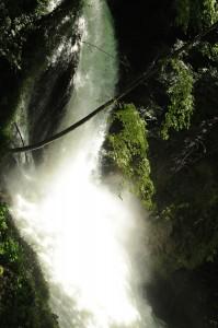 acqua che viene giù vilenta alle cascate delle marmore