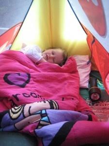 pretend camping