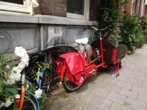 una bicicletta da trasporto ad Amsterdam