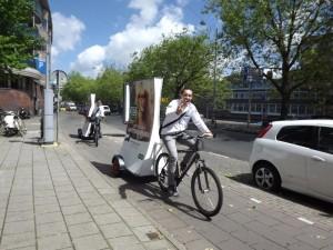 Anche la pubblicità corre in bicicletta ad Amsterdam