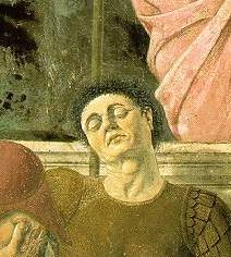 Resurrection_detail Piero della Francesca
