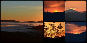 collage tramonto alla Futa