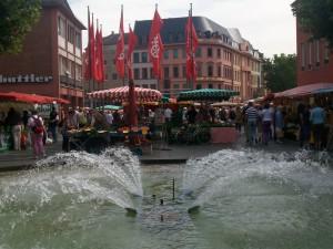 Magonza, fontana in Piazza