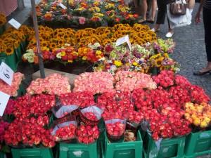 Magonza, mercato di fiori