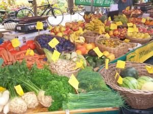 Magonza, tripudio di frutta e verdura