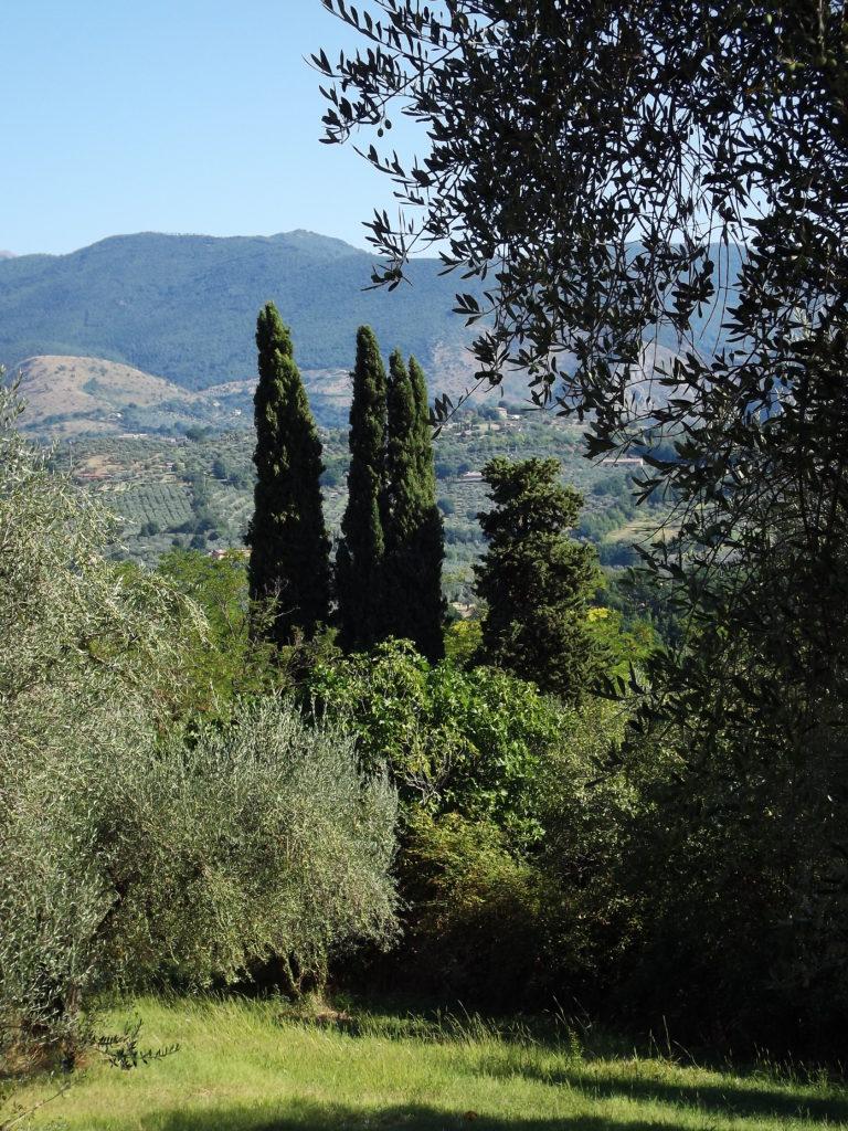Vista sulle colline sabine dall'Abbazia di Farfa