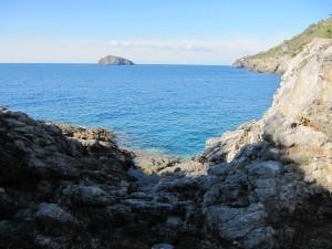 Porto S. Stefano - L'arrivo a Cala del Bove