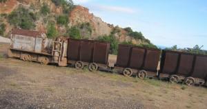 Vecchio treno minerario