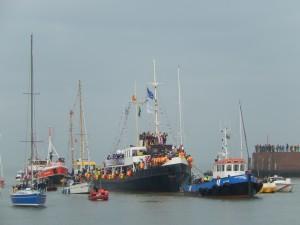 Sinterklaas in arrivo al porto de L'Aia