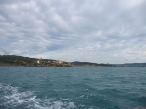 Il porto di Talamone dal mare