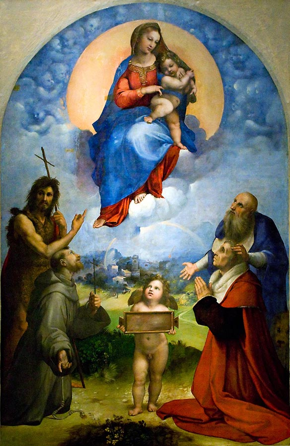 Madonna di Foligno Raffaello web