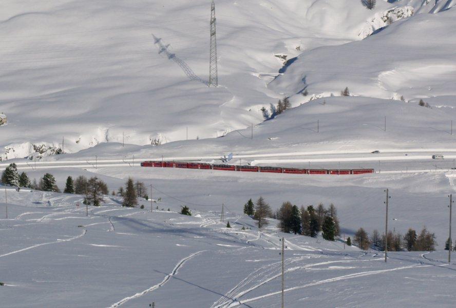 Trenino del Bernina Diavolezza