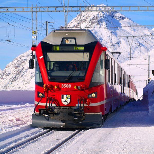 Trenino Rosso del Bernina, un'opera di ingegneria spettacolare