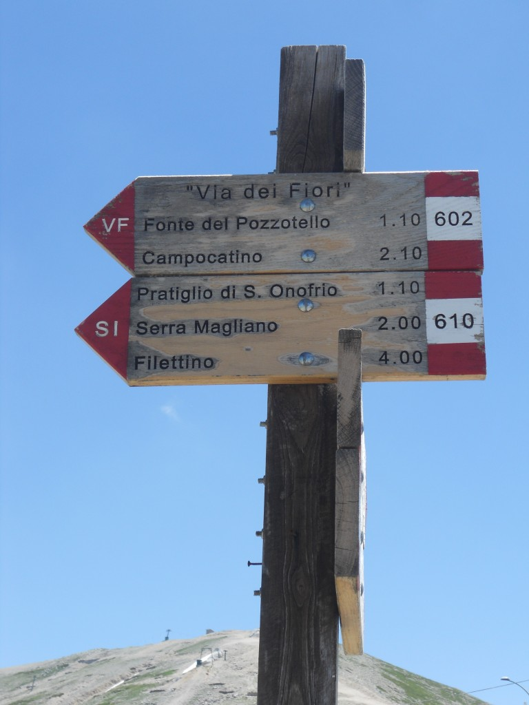 Ciociaria, Campo Catino. I sentieri