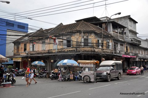 Palazzo in stile coloniale a Chinatown, Bangkok