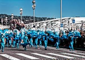 gruppi mascherati al carnevale di nizza