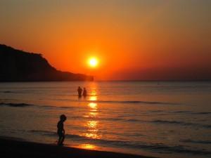 Peschici - tramonto sulla spiaggia