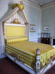 Villa dei Mulini - Il letto nella camera principale