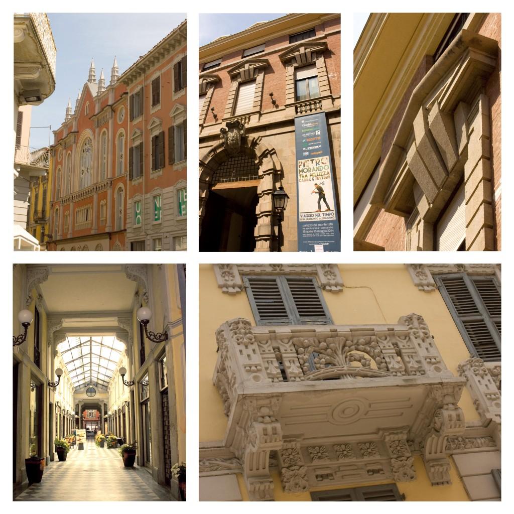 La Sinagoga, il Palazzo del Monferrato, la Galleria Guerci dove si trova la famosa pasticceria Bonadeo