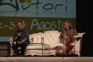 Pupi Avati e Fabio Canessa sul palco di CecinAutori, ed. 2013