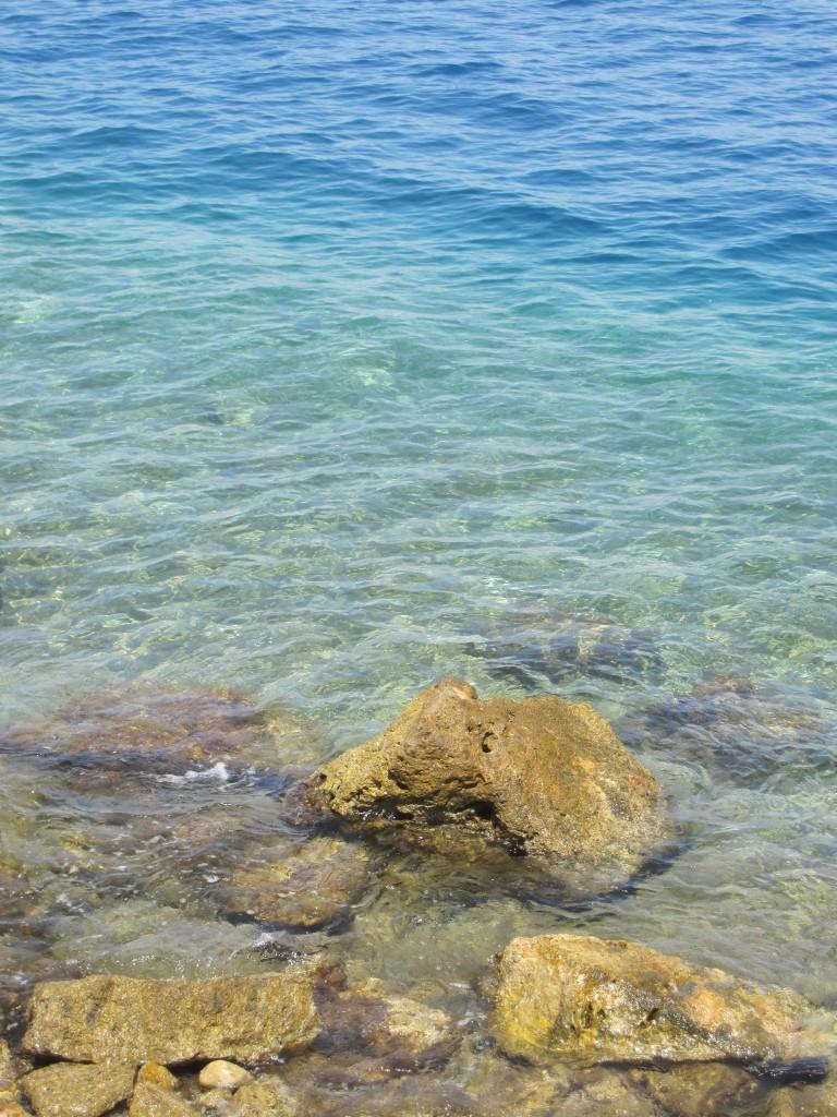 Le sfumature dell'acqua alla spiaggia del Siluripedio