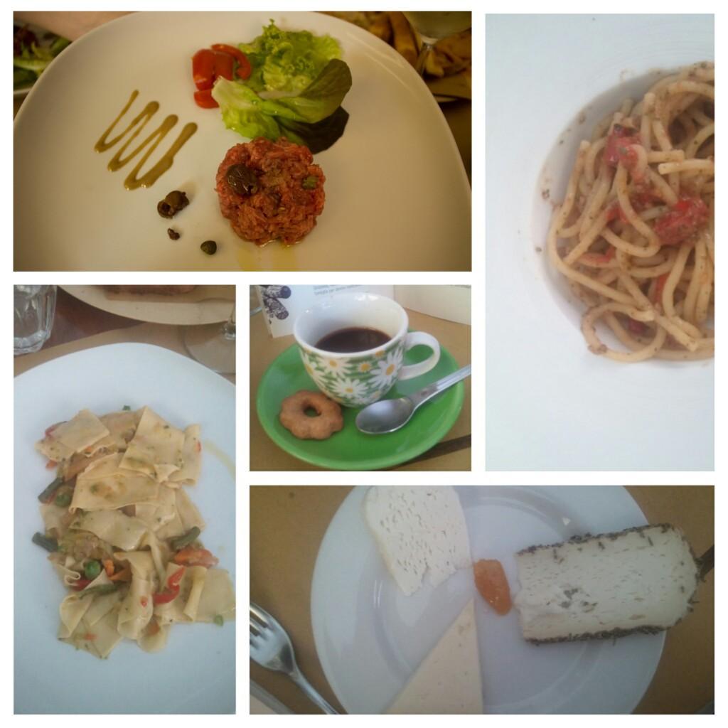 Vineria MezzoLitro ci ha con i piatti del giorno frutto della spesa quotidiana e delle verdure di stagione