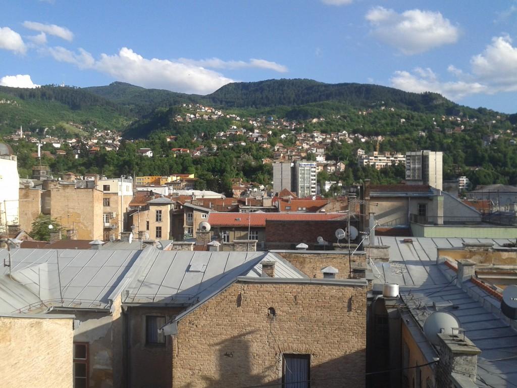 sarajevo dalla terrazza del city hotel
