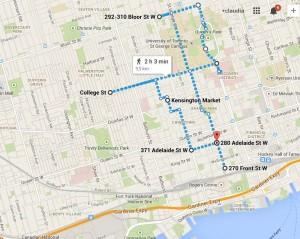 secondo giorno a Toronto percorso