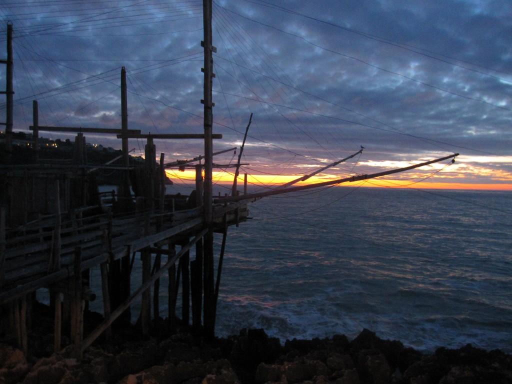 Trabucco da Mimì al tramonto
