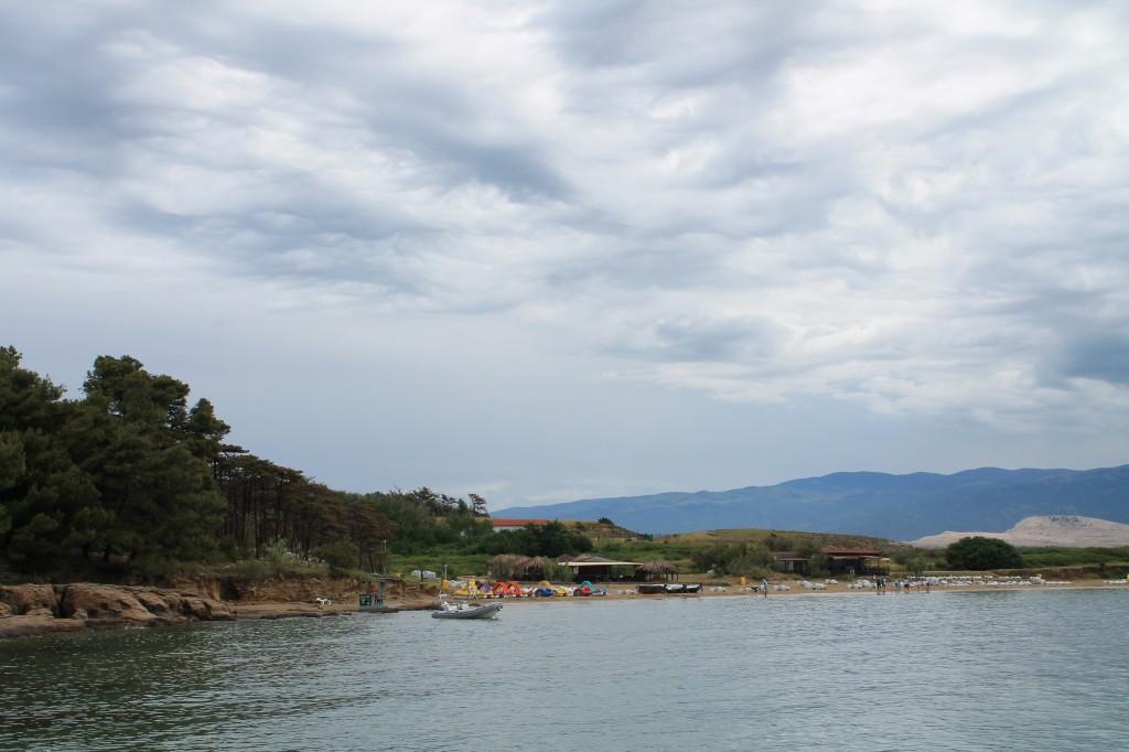 spiaggia di lopar sull isola di rab