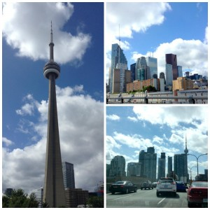 collage skyline di toronto