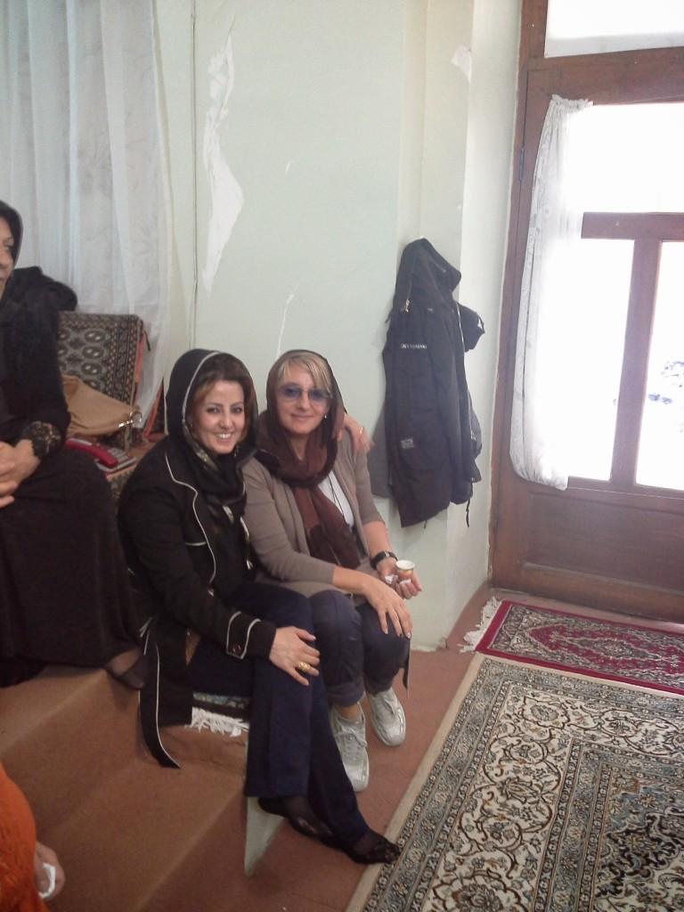 io insieme alla moglie di keivan