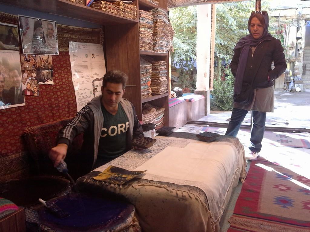 Isfahan:. Laboratorio artigianale stampa tessuti