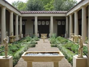 Ricostruzione del giardino della Casa dei Vettii di Pompei