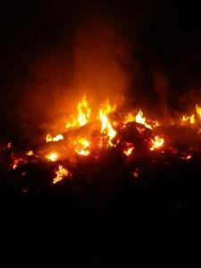 fuoco di inizio del carnevale