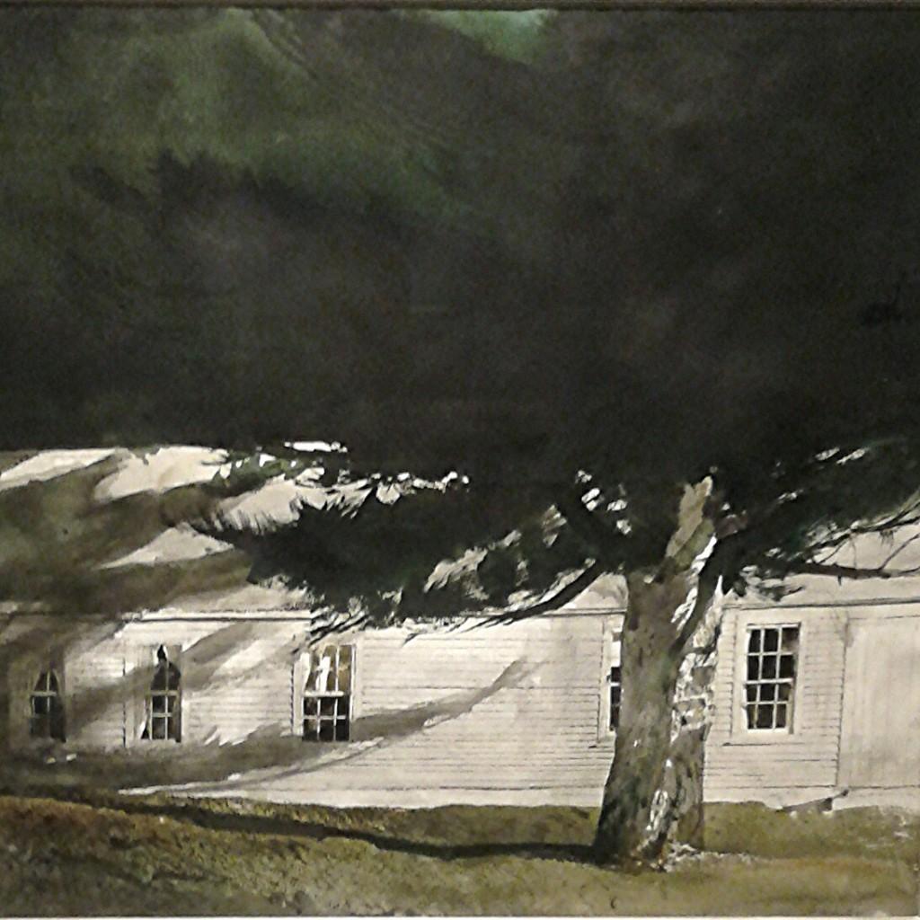 """Particolare di """"Fascio di luce"""" di Andrew Wyeth"""