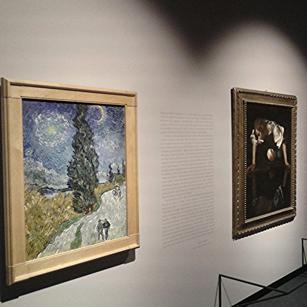 Van Gogh e Caravaggio  vicini: dove li ritroverete così?