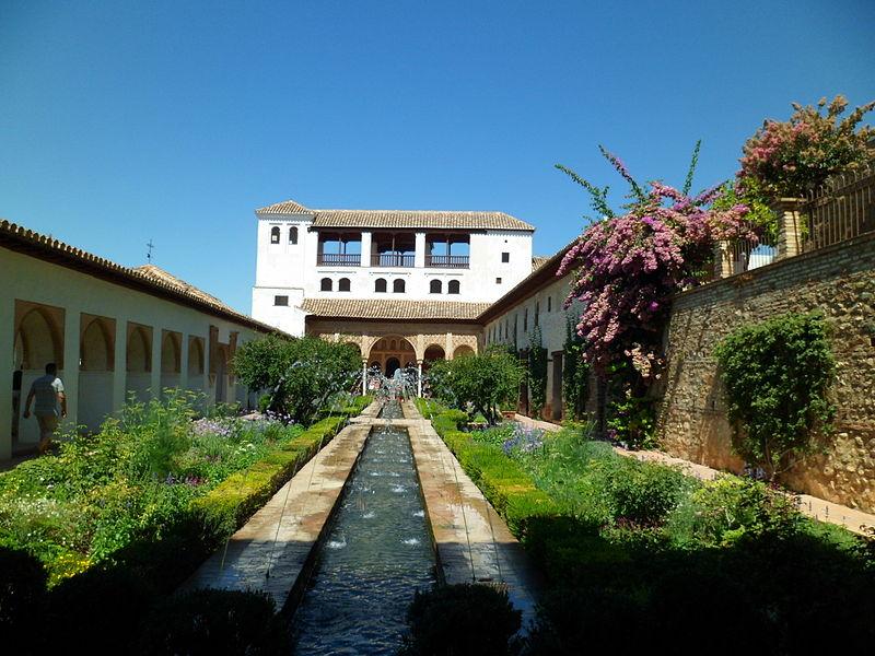 Il bellissimo Patio de la Acequia nel Generalife