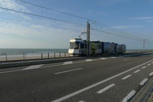 linea del tram De Panne-Ostenda-Knokke