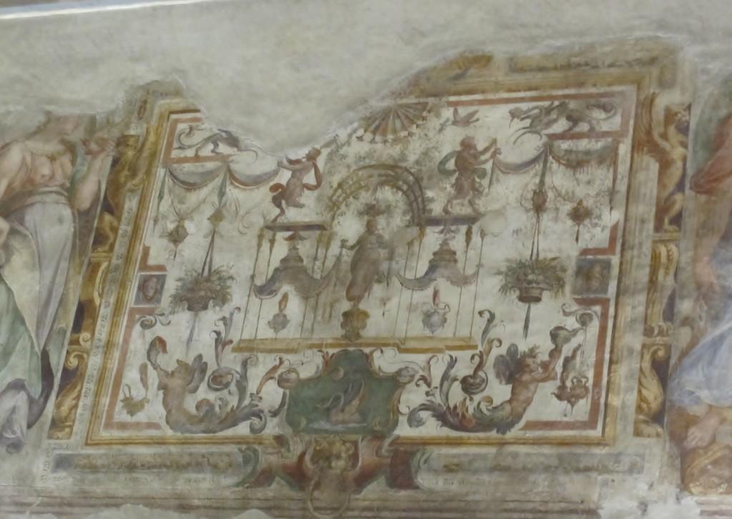 Villa Sforzesca_gli_affreschi_2