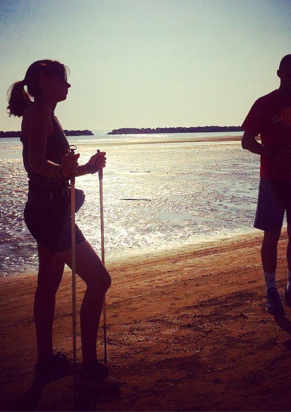 Nordic Walking sulla Riviera Romagnola: camminando e sudando sulla spiaggia