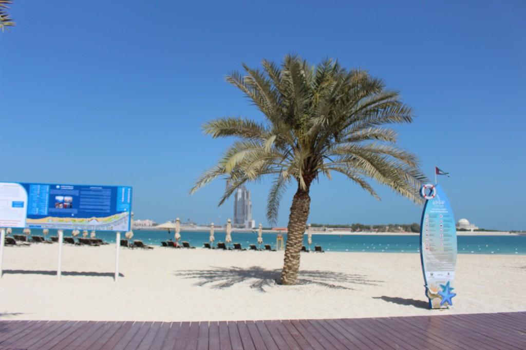spiagge ad abu dhabi lungo la corniche