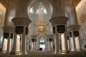 interni della moschea di Sheikh Zayed a abu dhabi