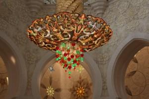 lampadari della moschea di Sheikh Zayed a abu dhabi