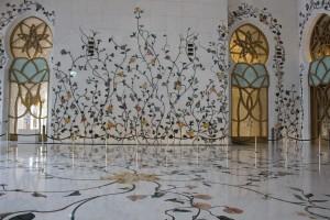 pareti della moschea di Sheikh Zayed a abu dhabi
